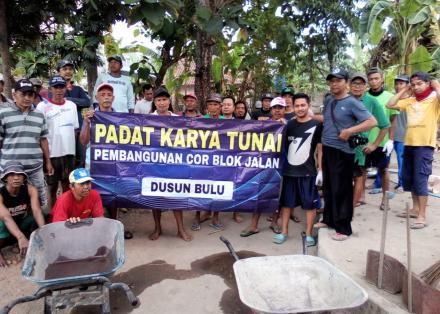 Kegiatan PKT Corblok Dusun Bulu Dimulai