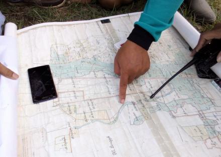 Inventarisasi Tanah Kas Desa Trimulyo Hari Ke 4