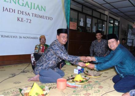 Mujahadah Dan Pengajian Hari Jadi Desa Trimulyo Ke 72